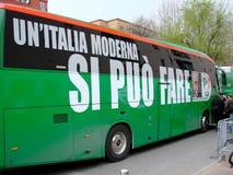 Italiaanse verkiezingen: Veltroni Stock Foto's