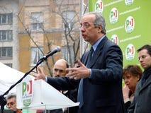 Italiaanse verkiezingen: Veltroni binnen Stock Afbeelding