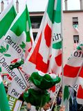 Italiaanse verkiezingen: Veltroni in Milaan Royalty-vrije Stock Afbeeldingen