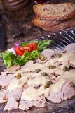 Italiaanse vitellotonnato Stock Fotografie