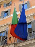 Italiaanse Vlag, Rome Royalty-vrije Stock Foto