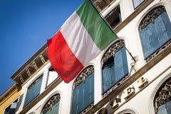 Italiaanse vlag in Venetië Royalty-vrije Stock Afbeelding