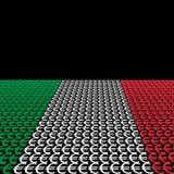 Italiaanse vlageuro stock illustratie