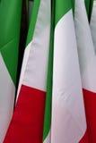 Italiaanse Vlaggen Royalty-vrije Stock Afbeeldingen
