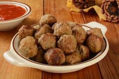 Italiaanse vleesballetjes Stock Foto