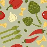 Italiaanse voedsel naadloze achtergrond Stock Foto