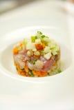 Italiaanse voedsel nouvelle keuken Royalty-vrije Stock Afbeeldingen