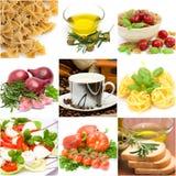 Italiaanse voedselcollage Royalty-vrije Stock Afbeelding