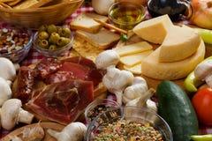 Italiaanse voedselingrediënten Stock Fotografie