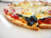 Italiaanse voedselpizza Stock Foto's