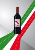 Italiaanse wijnfles Royalty-vrije Stock Afbeeldingen