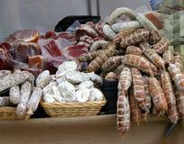 Italiaanse worsten stock fotografie