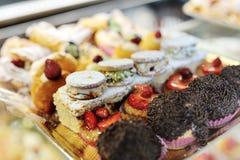 Italiaanse zoete gebakjes stock foto