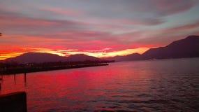Italiaanse zonsondergang Stock Foto's