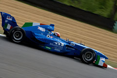 Italian a1 gp race car. On track, 5 May 2008 at Brands Hatch, UK stock photo