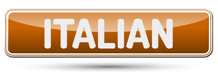 ITALIAN - Abstract beautiful button with text. Stock Images