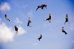 Italian Acrobatic Team in Sibiu Romania Royalty Free Stock Images