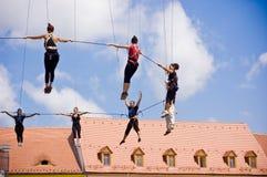 Italian Acrobatic Team in Sibiu Romania Stock Photo