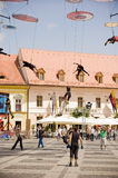Italian Acrobatic Team in Sibiu Romania Stock Photos