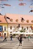 Italian Acrobatic Team in Sibiu Romania Stock Photos