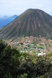 Italian Aeolian Islands mountain volcano Sicily Stock Images