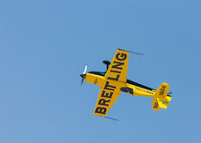Italian aerobatic champion Francesco Fornabaio in his type Extra 300 aircraft stock images