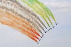Italian aerobatics group Royalty Free Stock Image