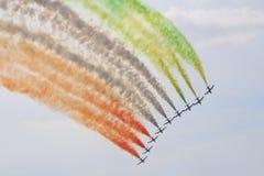 Italian aerobatics group. In MAKS 2009, Moscow Royalty Free Stock Image