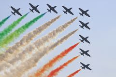Italian aerobatics group. In MAKS 2009, Moscow Royalty Free Stock Photography