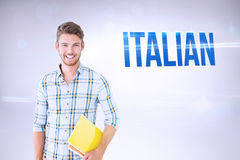 Italian against grey background Stock Image