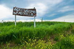 Italian Agriculture Sign in Tuscany Royalty Free Stock Photography