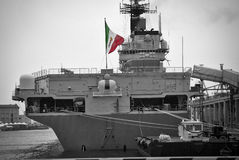 Italian aircraft carrier Royalty Free Stock Photography