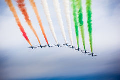 Italian airshow Royalty Free Stock Photo