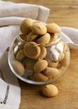 Italian almond amaretti cookies Stock Image