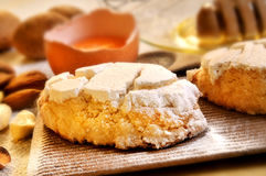 Italian almond biscuits Royalty Free Stock Photos