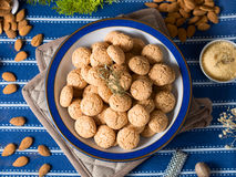 Italian almond biscuits Stock Image
