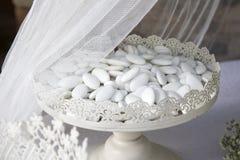 Italian almond confetti stock photography