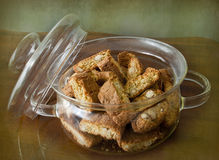 Italian almond cookies, cantucci Royalty Free Stock Photo