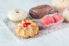 Italian almond pastries Royalty Free Stock Photography