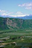 Italian alp valley near Bolzano Stock Photography
