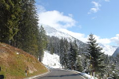 Italian alpine passes. Driving over the passes of Northern Italy into Switzerland Stock Images