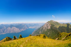 Italian Alps. Peaks of the Italian Alps above Lake Garda Stock Images