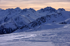 Italian Alps. In winter near resort Livigno Royalty Free Stock Photos