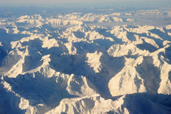 The italian alps between Aosta and Susa Royalty Free Stock Photos
