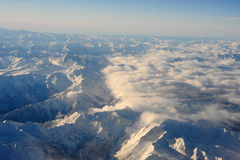 The italian alps between Aosta and Susa Stock Photos
