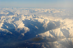 The italian alps between Aosta and Susa Stock Image