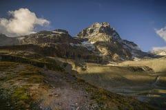 Italian alps. The beautiful Matterhorn, seen from Italy Royalty Free Stock Photography