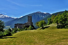 Italian Alps-castle Principe Royalty Free Stock Photography