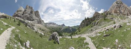 Italian Alps, Dolomites - panorama Stock Photos
