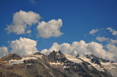 Italian Alps. Glaciers in the Gran Paradiso National Park in Italy Stock Images